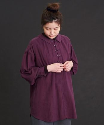 〇malle 60sコットンWガーゼ チュニックシャツ