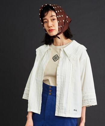 △malle Cottonモノグラム刺繍 ブラウスNO.015