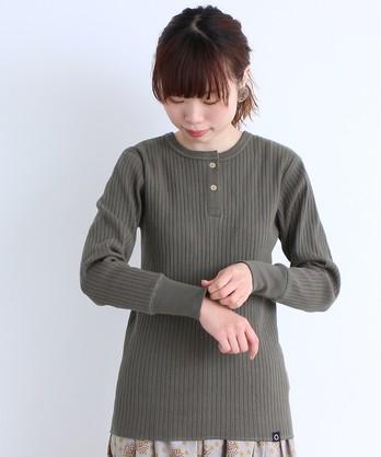 〇malle 20/-針抜きフライス ヘンリーネックTシャツ
