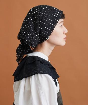 〇malle コットン/ドットプリント スカーフ