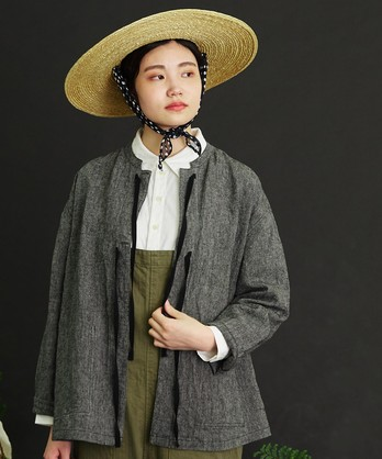 ○malle Linen先染めワッシャー 炭鉱夫のワークジャケット