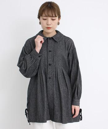 〇malle コットン/ウール デニムタンブラー スモックジャケット