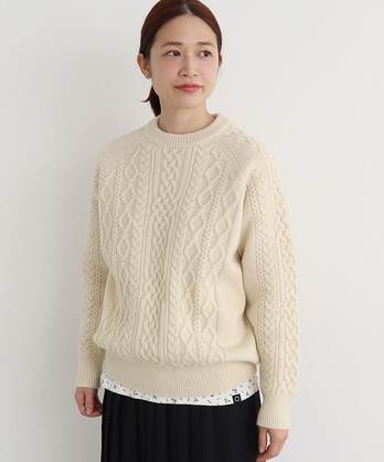 〇malle HIGHTWIST WOOL ケーブルセーター