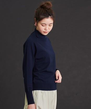〇malle ウール/コットン 12G タートルネックセーター