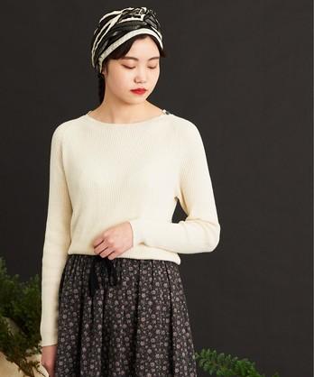 ○malle Cotton/Linen リブセーター