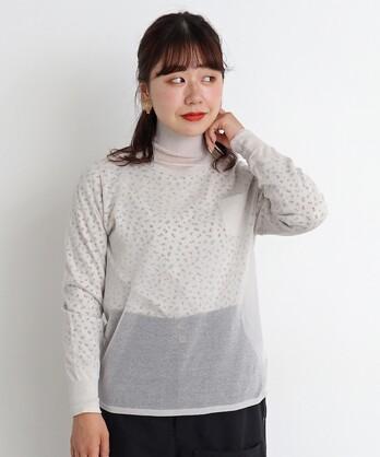 〇malle コットン/ポリエステル ハイネックセーター