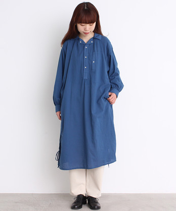 ○malle 60sCOTTON ブッチャースモック シャツドレス