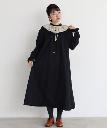 〇malle Cotton モノグラム刺繍ナイトドレス