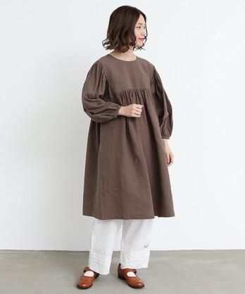 〇malle 1/60 Linenワッシャー ビッグスモックドレス