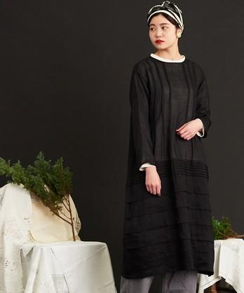 ○malle Ramie スモックドレス