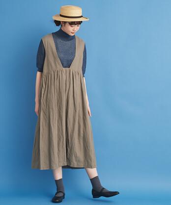 〇malle リヨセルラミーローン ジャンパースカート