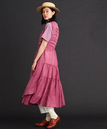 〇malle Ramie ノースリラップドレス