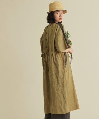 △〇malle Linen刺繍 重ねワンピース