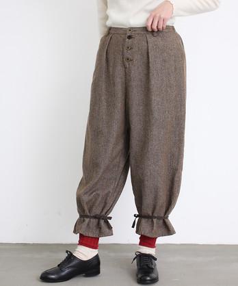 〇malle コットン/ウール デニムタンブラー 裾絞りパンツ