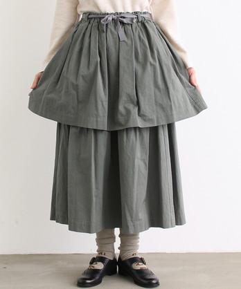 〇malle 60/2ツイル グランジールウォッシュ 2段スカート