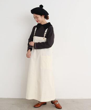 〇malle 高密度コンパクトチノ サロペットスカート