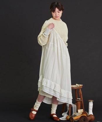〇malle コットン/リネン モノグラム刺繍 2WAYスカート