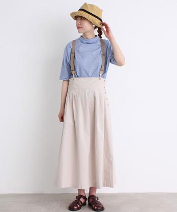 〇malle コットン/リネン 強撚馬布 ワークスカート