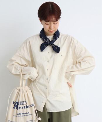 ○伊吹染め オーバースタンドシャツ