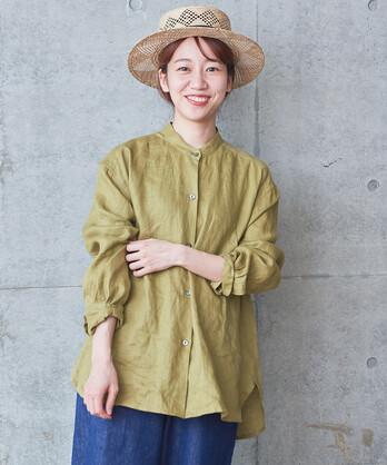 〇△フレンチリネン ワークシャツ