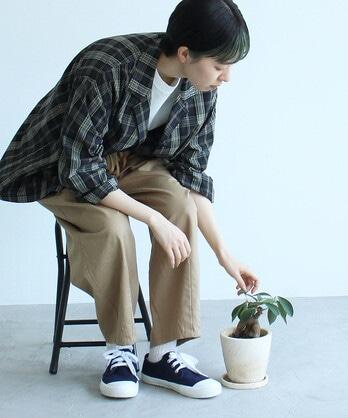 △〇コットンキュプラチェック 江戸炊きスリーピングシャツ