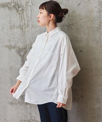 △VINTAGE16 無地/ギンガム/ストライプ BIGスリーブシャツ