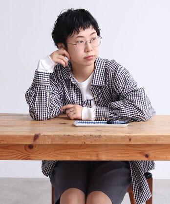 【予約販売】〇△VINTAGE16 無地/ギンガム/ストライプ BIGスリーブシャツ