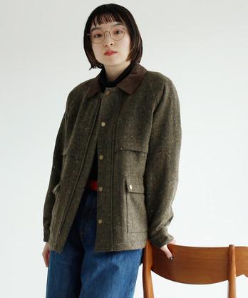 △○リサイクルウールネップヘリンボン ハンティングジャケット