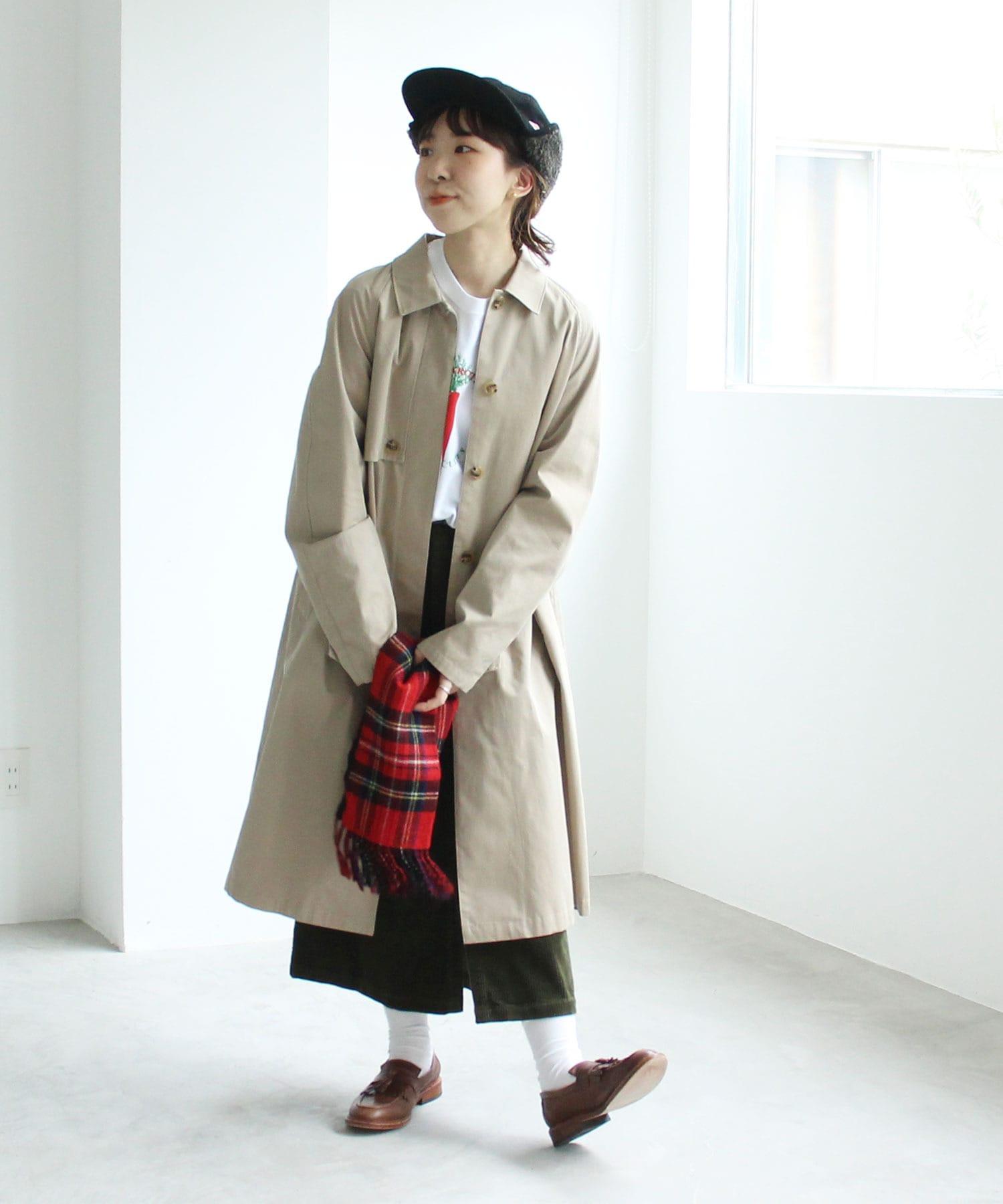 【予約販売】〇△交織ツイル ステンカラーコート