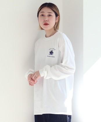 カレッジプリント 別注ロンT 【HARVARD UNIVERSITY】