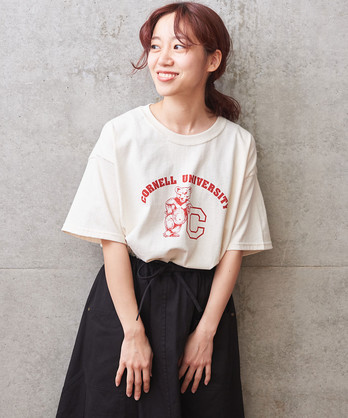 collegeプリント別注Tシャツ LARGE