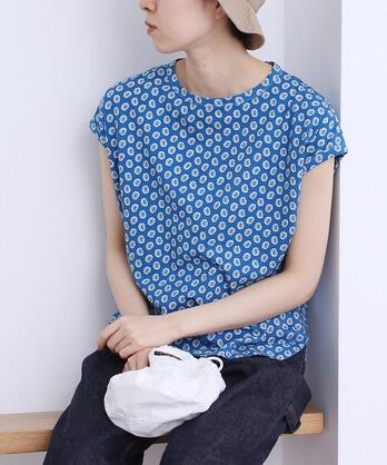 △〇天竺ペイズリープリントTシャツ