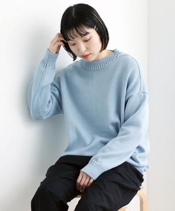 ○コットン度詰め カシミアタッチプルオーバー