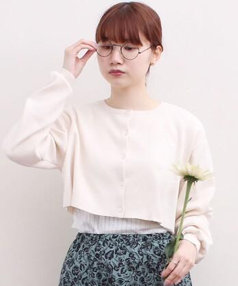 ○C/Ny pleating short カーディガン
