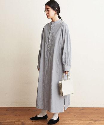 〇60/typewriter shirt dress