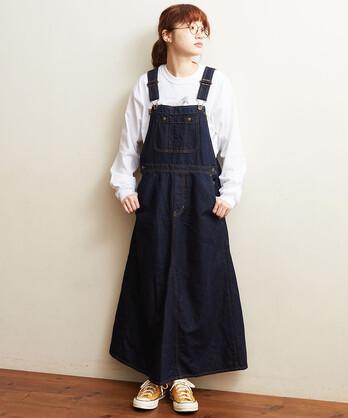 〇△C/L DENIM ジャンバースカート