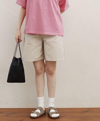 △〇COTTON SERGE short pants