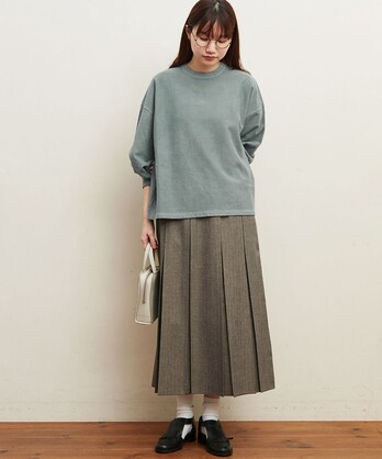 〇△wool mood boxpleats スカート