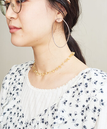 〇crystal ネックレス