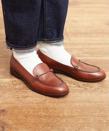 〇leather bit loafer
