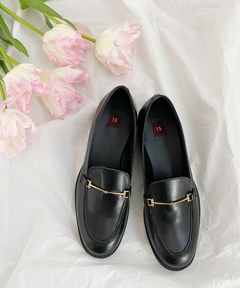 〇leather bit loafer