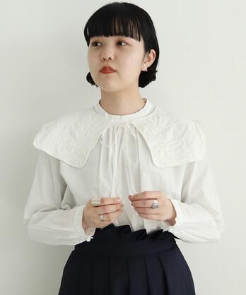 ○C/flower boutis 付け衿 ブラウス