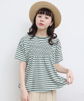 △○C/シェルタック刺繍 Tシャツ