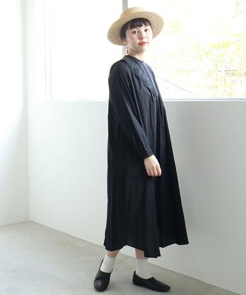 〇C/植物園の付け衿 ワンピース