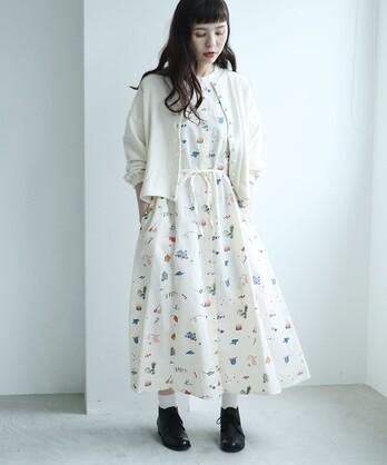 △○L/C お洗濯刺繍 ワンピース