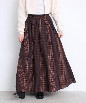 〇カットJQチェック スカート