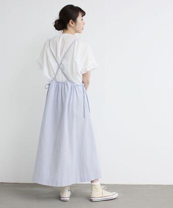〇ストライプサッカー つりスカート