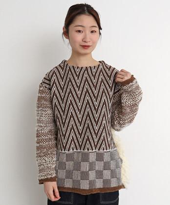 〇ジグザグセーター