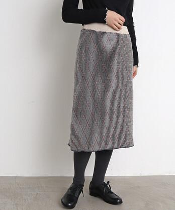 △ダイヤ柄ニットスカート