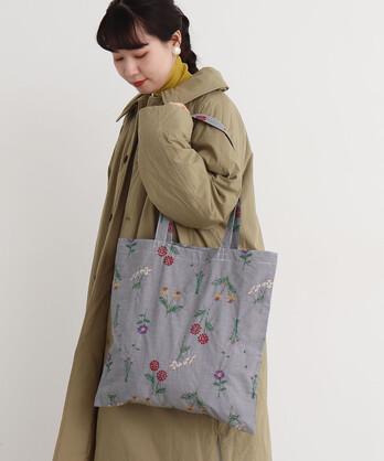 〇cdc お花図鑑刺繍 トートバッグ